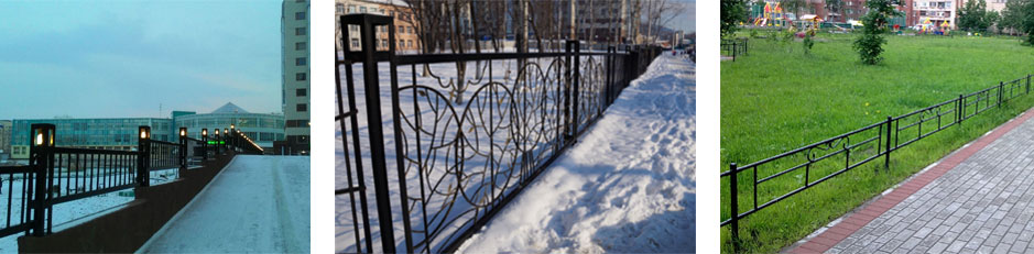 Lawn and sidewalk fences