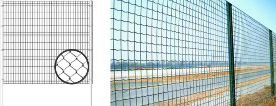 Fences made of mesh netting